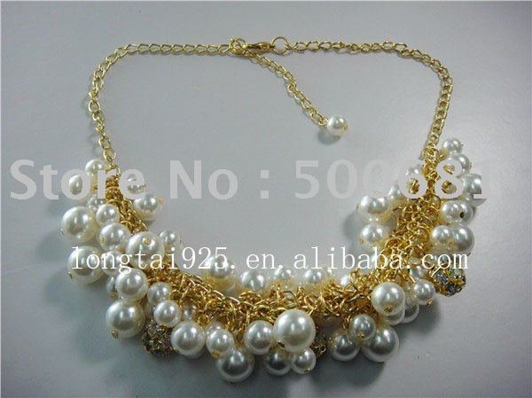 elegant pearl necklace most popular beauty jewelry free shipping  2011 new style  wholeseale or retail
