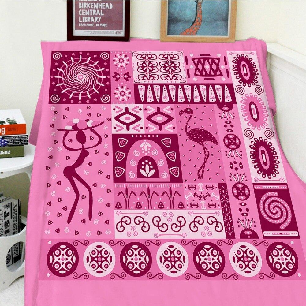 Couvertures Cobertor chaleur douce peluche Patchwork décor thème traditionnel amérique du nord flamant rose lit jeter couverture Plaid épais