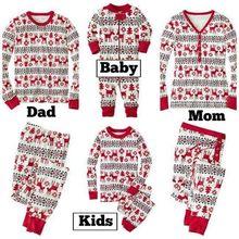 Семейные рождественские рождество  малышей наборы пижамы мультфильм детские дети