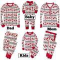 Natal Venda Quente 2017 Novos Dos Desenhos Animados Crianças Pijama Define Crianças Sleepwear Nightwear Pijamas Família Natal Da Criança Do Bebê Pijamas