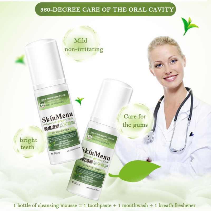 Очищающий мусс для зубов свежее дыхание пятна зубов удаляет очистка полости рта пены отбеливания зубов рекомендуемые продукты