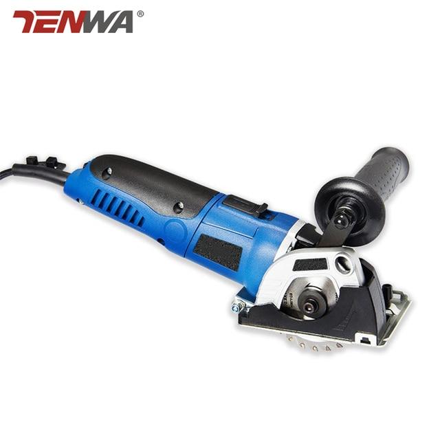 Tenwa 500W portable Circular Saws Household Desktop Multifunction Handheld Woodworking / Metal / TCT / HSS mini Power Tools Saws