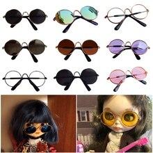 Игрушка кукла крутые солнцезащитные очки для BJD Blyth Американский для отдыха в ночном клубе, очки игрушка для домашних животных наряд для фотосессий Pet очки игрушка кукла солнцезащитные очки
