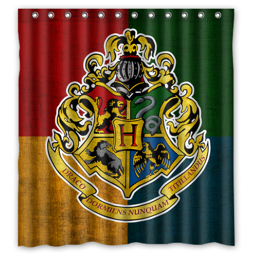 Harry Potter Hogwarts Logo Bathroom Polyester Shower