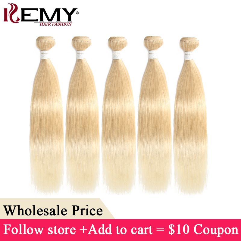 613 Honey Blonde Brazilian Straight Human Hair Bundle KEMY HAIR 8-26 Inch Remy Hair Weave Bundles Fast Shipping Wholesale Hair(China)