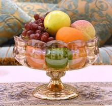 European household crystal glass fruit tray living room table candy creative ornaments
