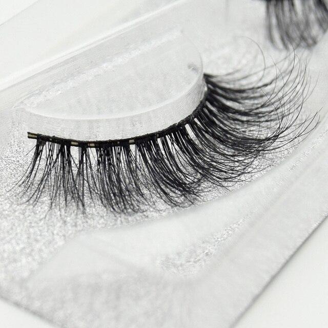 Visofree False eye lashes handmade natural make up False eyelashes glitter packing 1 pair box make up sexy 3D Mink Lashes D01 5