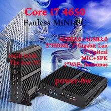 Мини пк Intel core i7 4650U Безвентиляторный Barebone HTPC Intel Nuc без Ordinateur Бродуэлла Graphique HD 5500 300 М Wifi ПК 16 ГБ ОПЕРАТИВНОЙ ПАМЯТИ