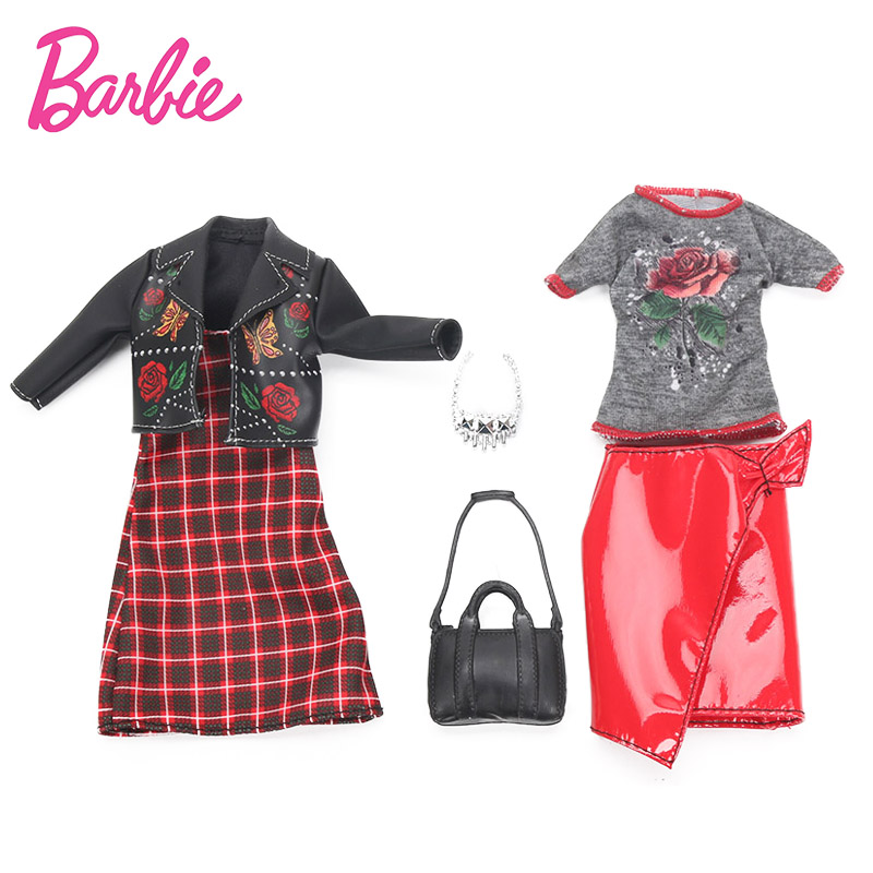 2018 Barbie Puppe Mode Kleidung Roupas Halskette Outfits Puppe ...