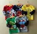 Горячие продажи Размер90 ~ 140 ребенок одежда дети топы тис мальчики длинный рукав футболки для девочек футболки автомобилей грузовых автомобилей
