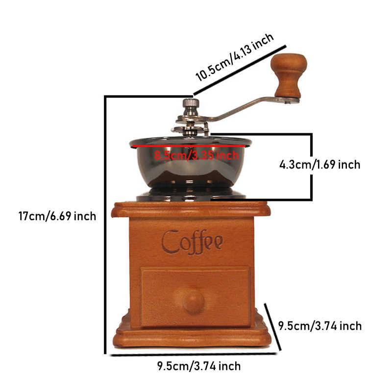 Ручная кофемолка керамическая мельница кофейная бобовая Кусачка классическая деревянная ручная кофемолка домашний кухонный инструмент от ACEBON