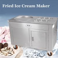 Commercial Yogurt Frying Machine Fried Ice Cream Roll Machine Single Pot Stir Fried Milk Rolling Machine CBJY 1D6A