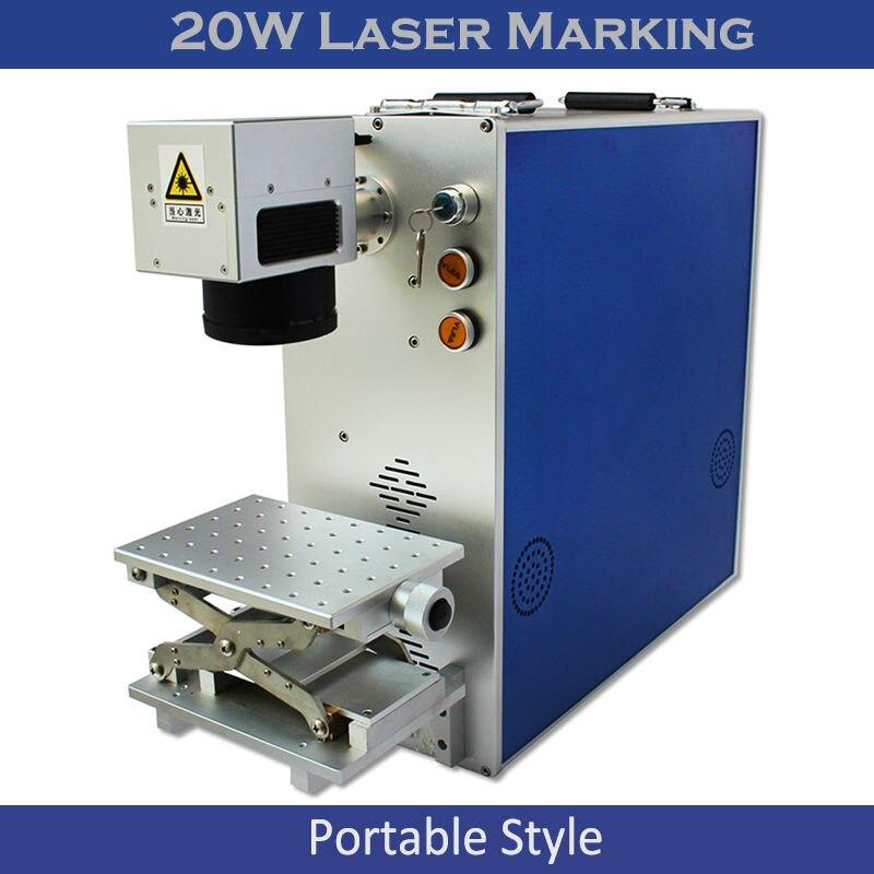 Free Shipping 20W 30W 50W Portable Optical Fiber Laser Marking Engraving Machine Metal Laser Printing Lazer Cnc Engraver Kit