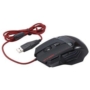 Image 2 - HXSJ A907 מתכוונן 5500DPI מקצועי USB Wired אופטי 7 כפתורי הגדרה עצמית עכבר משחקים עבור מחשב שולחני netbook