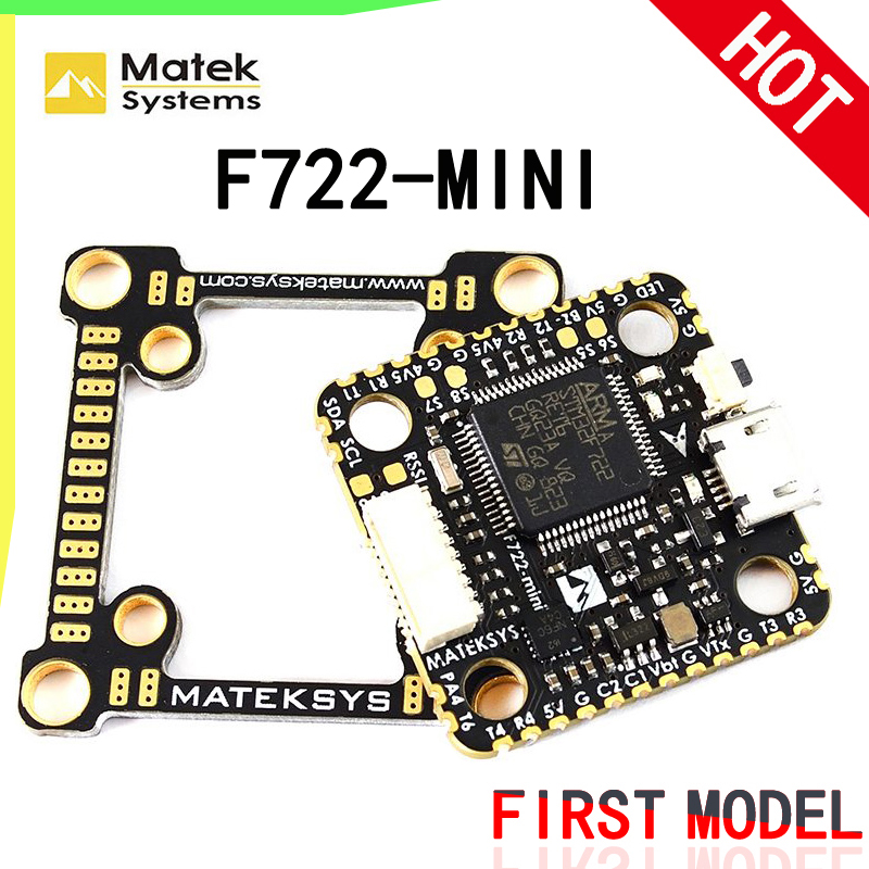 Matek System F722-mini Flight Controller convertible 20mm to 30.5mm mounting 2~8S STM32F722 FC with OSD for DIY FPV Racing DroneMatek System F722-mini Flight Controller convertible 20mm to 30.5mm mounting 2~8S STM32F722 FC with OSD for DIY FPV Racing Drone