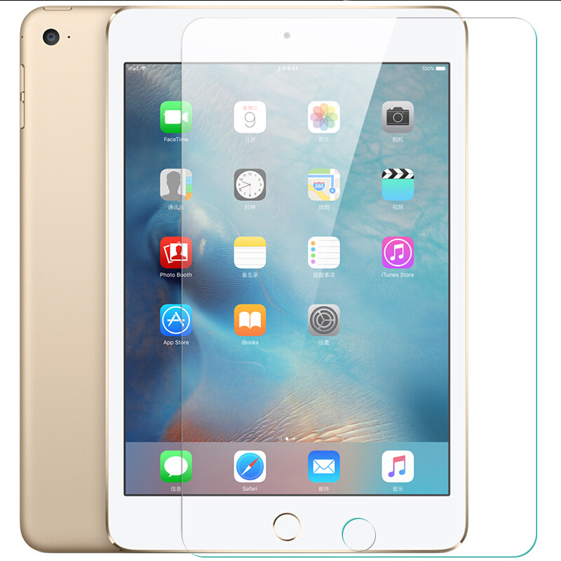 9H 0.3mm 2.5D Front Tempered Glass For iPad Mini 2 3 4 Air Air2 9.7 Ultra-Thin Tablet Film Screen Protector For iPad 2 3 4 Pro yi yi ultra thin tempered glass screen protector for lg g3 transparent