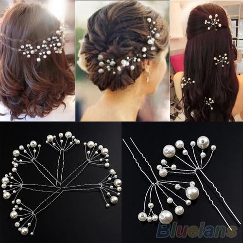 fashion new wedding bridal bridesmaid pearls hair pins clips comb headband 1rss