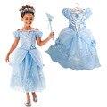 Costumes de natal para As Crianças meninas Branca de Neve Vestidos de Princesa Rapunzel Aurora Crianças Roupas de Festa Meninas Vestidos de Cinderela