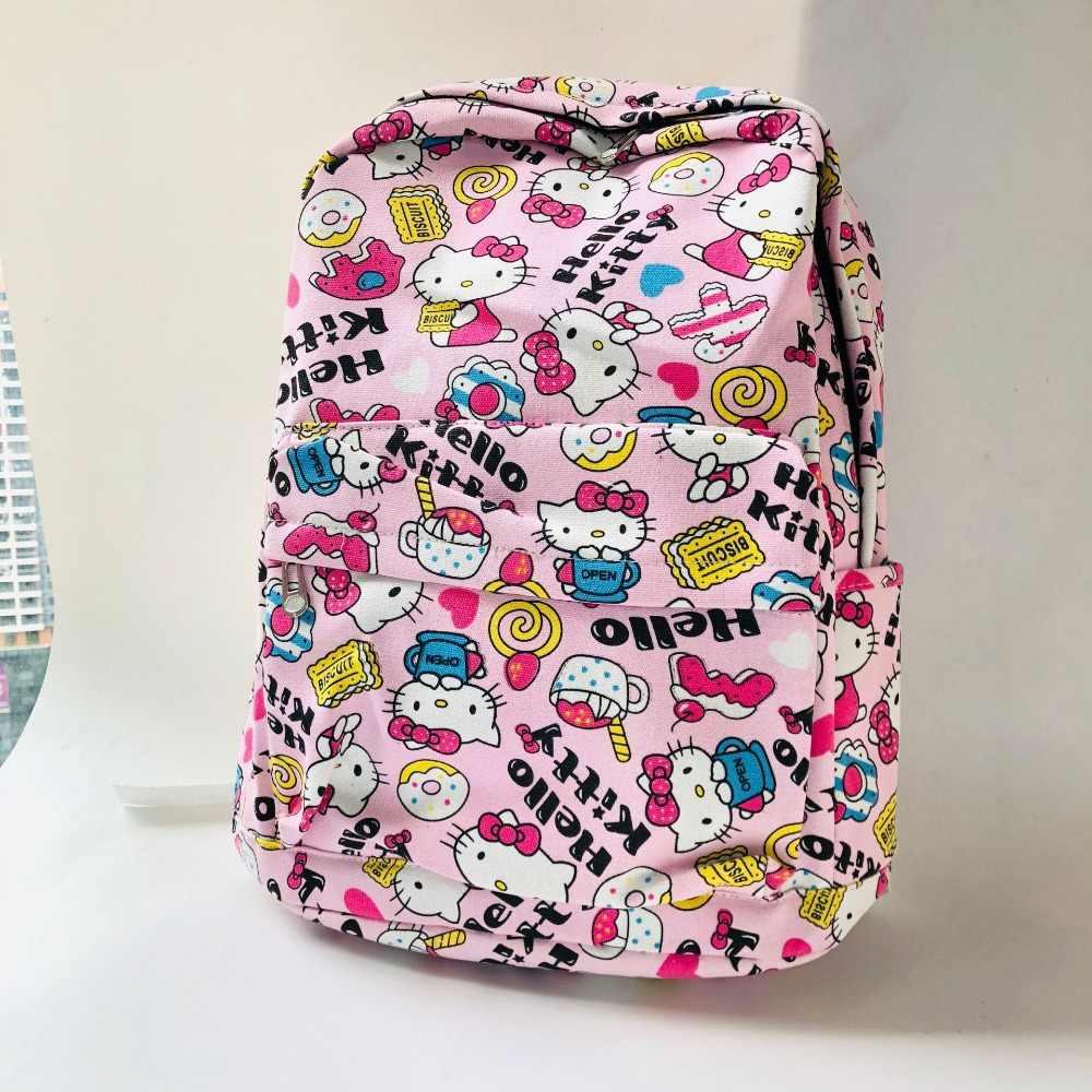 Mulheres Mochila de lona mochila bonito Mochila de Viagem Ombro Sacos de Escola para a menina Dos Desenhos Animados mochila mochila Bagpack Mochila sac