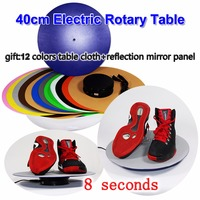 40cm Electric Rotary Table Product Display With Gift 12 Colors Table Cloth Reflection Mirror Panel 8s