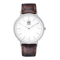 Ultra Slim Fashion Lovers Watch Leather Band Analog Quartz Watch with Gifts Box Waterproof Business Casual Watch For Couples