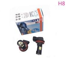 H8 Car Auto Extreme Bright 6000K White LED Fog Driving Lights Bulb