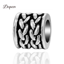 Dequeen New Alloy Charm Simple Beads Fit Charm Bracelet Charm Berloque Bracelet Fit DIY Charms Bracelet