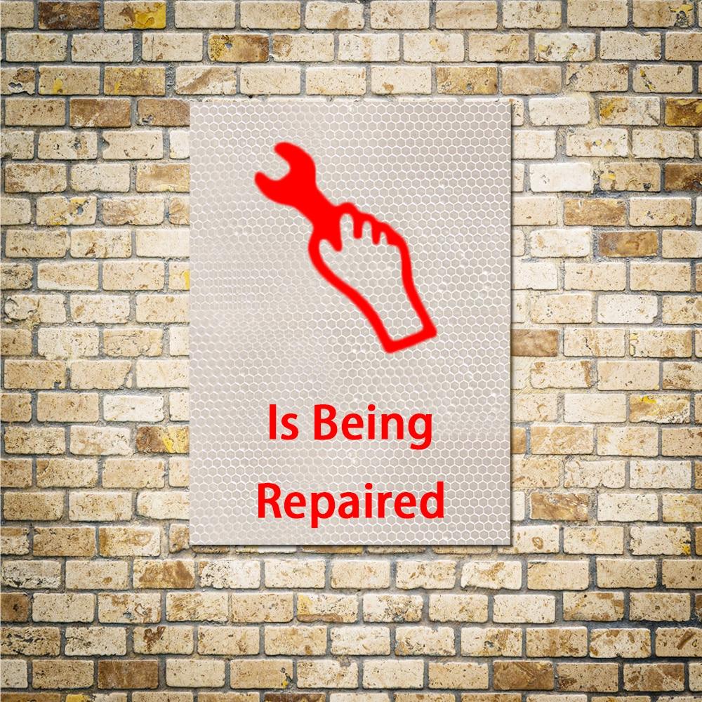 2018 Предупреждение знак сотрудников вход только виниловые наклейки для стен компании Отели светоотражающие наклейки цвета: золотистый, сер...