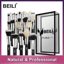 Бейли черный полный Профессиональный Пудра Корректор Контур натурального козьего волоса глаза смешивания 30 шт. набор кистей для макияжа
