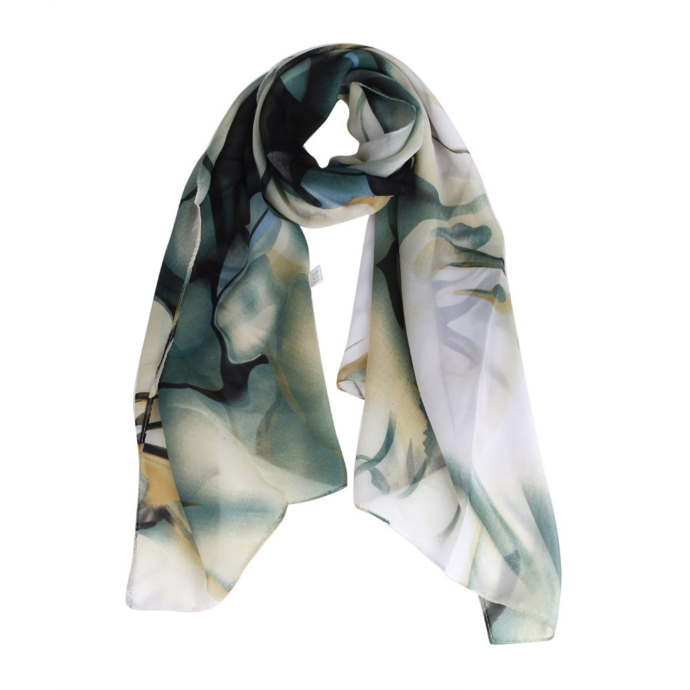 scarves fashion print silk chiffon wrap