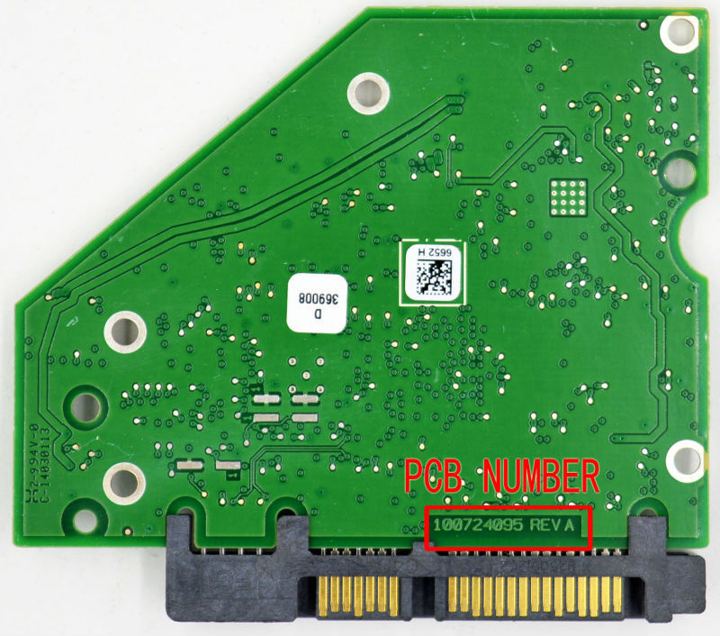 ST4000DM000 ST4000VX000 HDD PCB for Seagate Logic Board/Board Number: 100724095 REV A