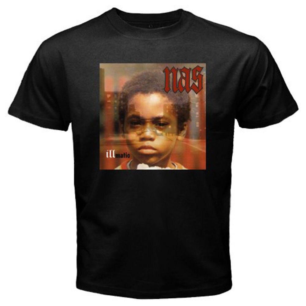 7a07145c2 T Shirt Printing Company Short Men New Nas Illmatic Album Cover Men'S Black  T-Sh O-Neck Compression T Shirts
