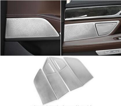 Car Interior Accessories For BMW 7 Series 730 750 2016 2017 6pcs Stainless Steel Door Speaker Trim Car Styling sus304 stainless steel interior door speaker trim car styling cover accessories for mazda cx 5 kf 2nd gen 2017