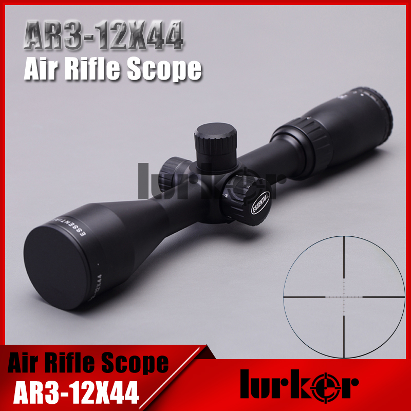 Tactical Essential 3-12X44 AO Air Gun Mil-dot HD Optics Sight Rifle Scopes Hunting Shooting Riflescopes with Two Lens Cover air telescope rifle mil dot 3 9x40 ao tactical red green blue llluminate rifle scope optical sight air scopes w sunshade