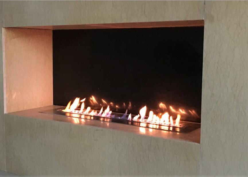 36 Inch Silver Or Black Real Fire RS485  RS232 Dry Contact Intelligent Auto Fireplace Bio Ethanol