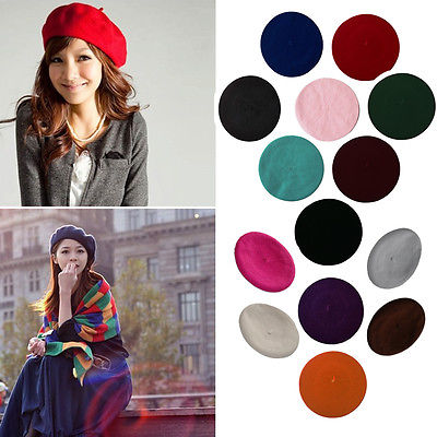 43117fb3ae764 ... Womens Sweet Solid Warm Wool Winter Beret French Artist Beanie Hat Ski  Cap Hat. 44% Off. 🔍 Previous. Next