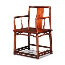 Китайский Мин и Цин классическая мебель Южной мандарин стул с поручнями жизни Dinig номер кресло Бирма палисандр Indoor