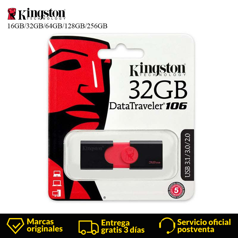 Kingston USB Flash Drive 16 GB 32 GB 64 GB 128 GB 256GB USB 3,0 flash Memory stick pen drive usb DT106