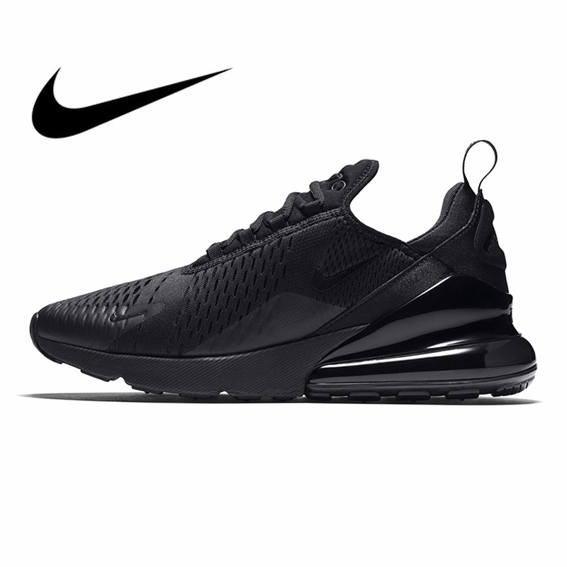 D'origine Nike Air Max 270 Hommes Respirant Chaussures de Course de Sport En Plein Air Confortable Dentelle-up Durable Jogging Sneakers AH8050
