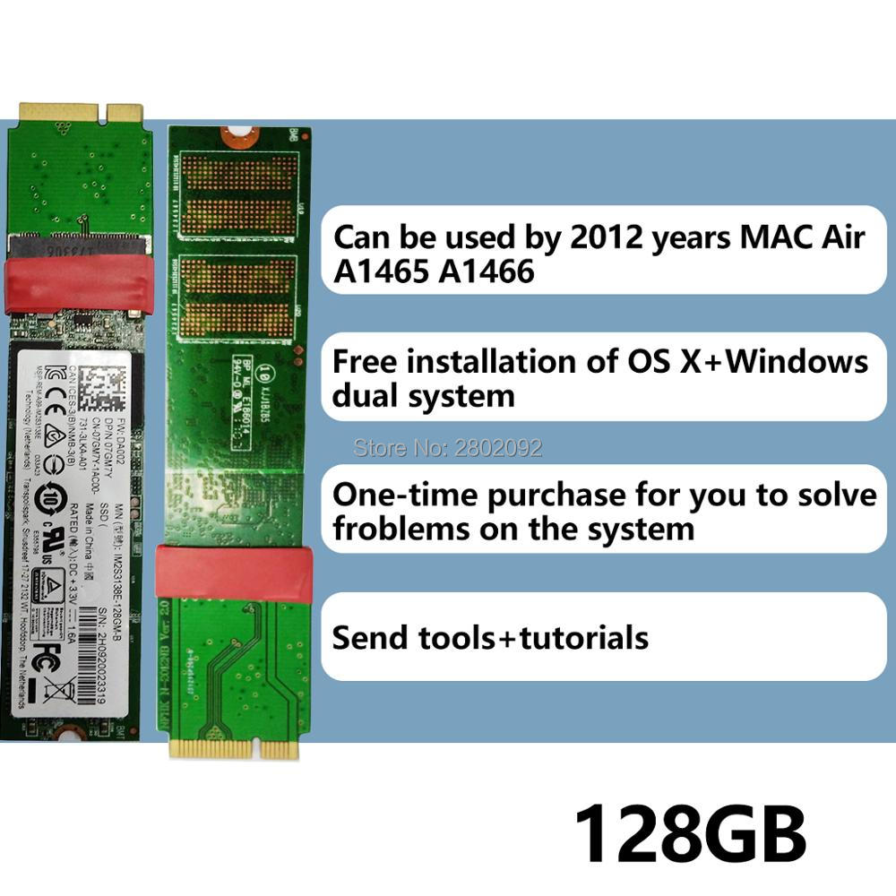 цены на new 128GB SSD For 2012 Macbook Air A1465 A1466 SOLID STATE DISK Md231 md232 md223 md224 hard disk SSD 128G