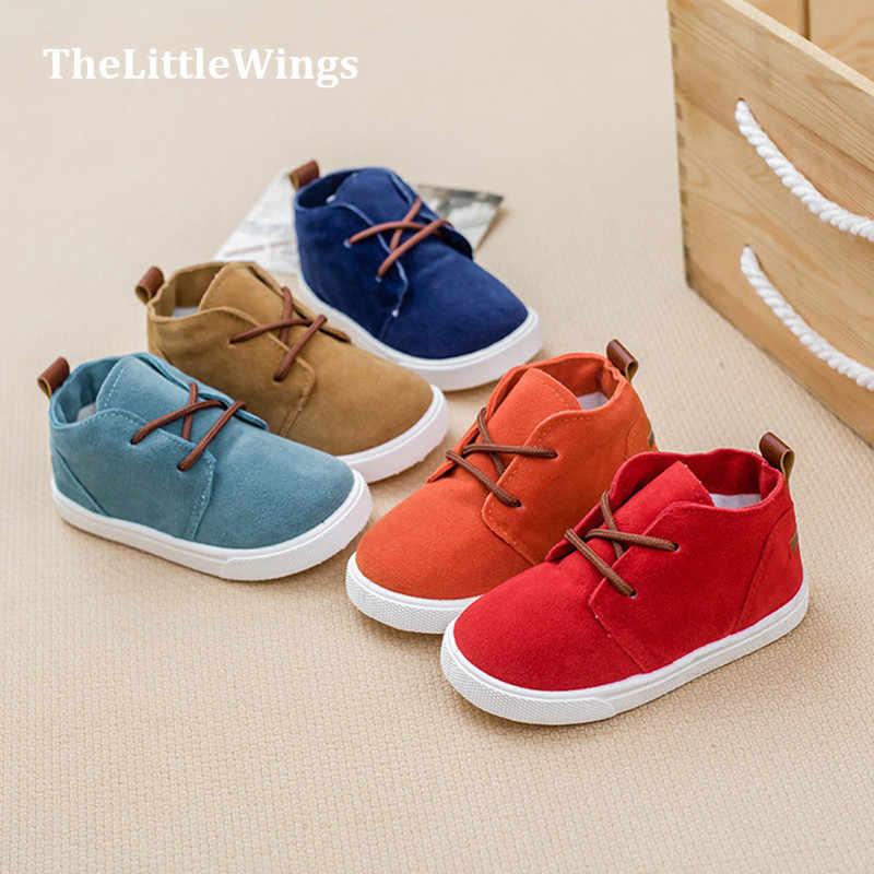 ed5876e0b Осень Новая мода детская обувь для маленьких девочек супер мягкая и удобная  обувь для мальчиков замши