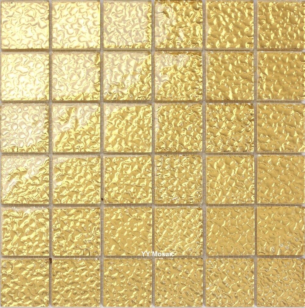 Alkali Resist Gold Mirror Glass mosaic tile, Kitchen Shower Bathroom ...