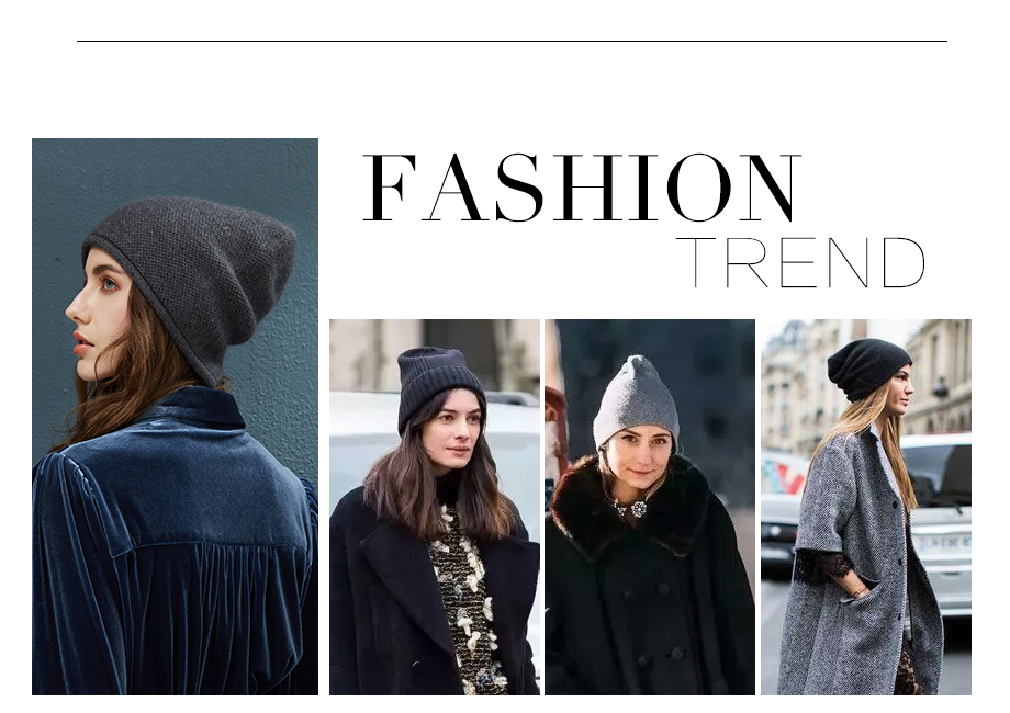 2018 New Women Baggy Bonnet Beanies Female Rabbit Hair Wool Knitted Winter Hats Soft Skiing Slouchy Beanie With Back Opening (3)