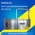 Semi-automatic banding machine notebook banding machine vagetable bundle machine WK-HB-1A strapping machine packaging equipment