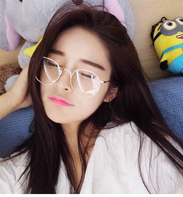 new vintage round glasses frames women metal white frame glasses men nerd glasses metal frame sunglasses - White Frame Glasses