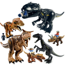 Dinosaurs Of Jurassic World Building Blocks Mini Bricks Figures Kids Baby Toys Juguetes