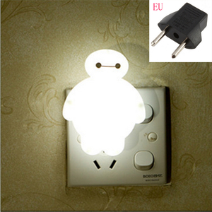 Image 1 - Top Baymax Cartoon night light lamp 110V 220V US EU plug baby room led energy saving lamp kids light bedside lamp lighting