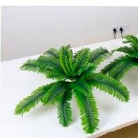 2pcs Lot Simulation Grass Cycas Palm Artificial Tree Silk Plants Garden For Home Wedding Decorative Flowers