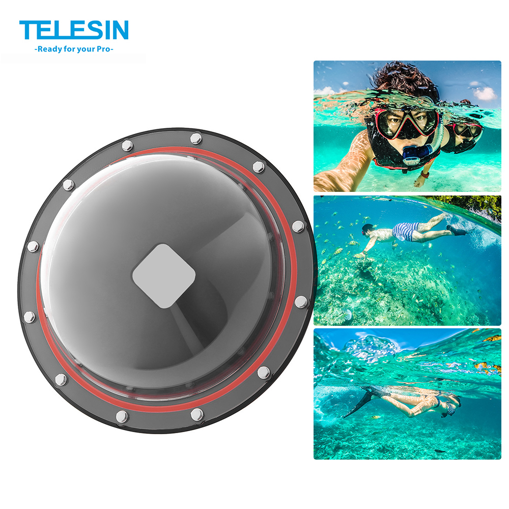 TELESIN GP DMP SESSION Housing Dome for GoPro Hero Session 5 4 Camera Underwater Diving Transparent