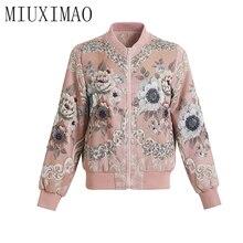 MIUXIMAO 2020 Autumn Jacket Latest Fashion And Casual Europe Style V-Neck Full S
